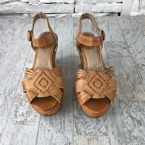Frye Charlie Huarache Platform Wedge Sandal